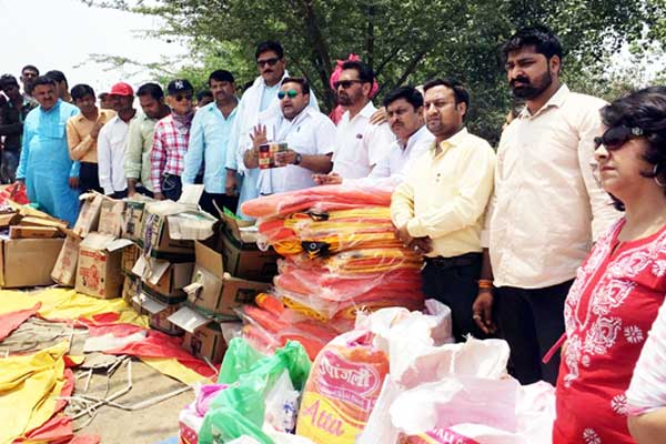 Relief materials for victims families