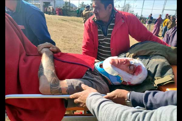 Foreign tourist injured by sliding bike in Khirsu